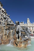 Famous fountain in Lyon city — Stock Photo