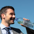 Water for businessman — Stock Photo