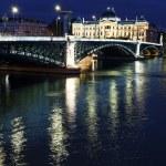 Vertical night bridge — Stock Photo
