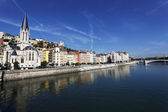 Saone river in Lyon city — Stock Photo