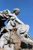 Famous statue in Lyon city — Stock Photo
