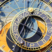Zodiacal clock square — Stockfoto