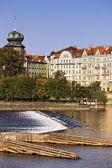 Morning on Vltava river — Stock Photo