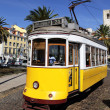 Yellow tram — Stockfoto