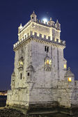 The Tower of Belem by night — Stock Photo