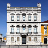 Facade of famous building in Lisbon — Stock Photo
