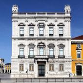 Facade of famous building in Lisbon — Stock Photo