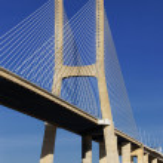 Part of Vasco da Gama bridge — Stock Photo