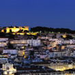 Lisbon by night - Stock Photo