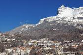 горная станция в альпах — Стоковое фото
