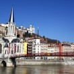 Lyon blue sky — Stock Photo