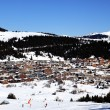 Foto Stock: Alpine village in winter