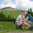 Couple on mountains — Stock Photo