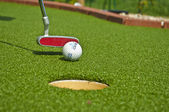 Detail of adventure golf game — Stock Photo