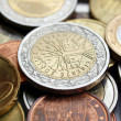 Stock Photo: Euro coin