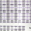 Timetable — Stock Photo #7242608