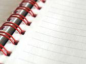 空白のノートブックのページ — ストック写真