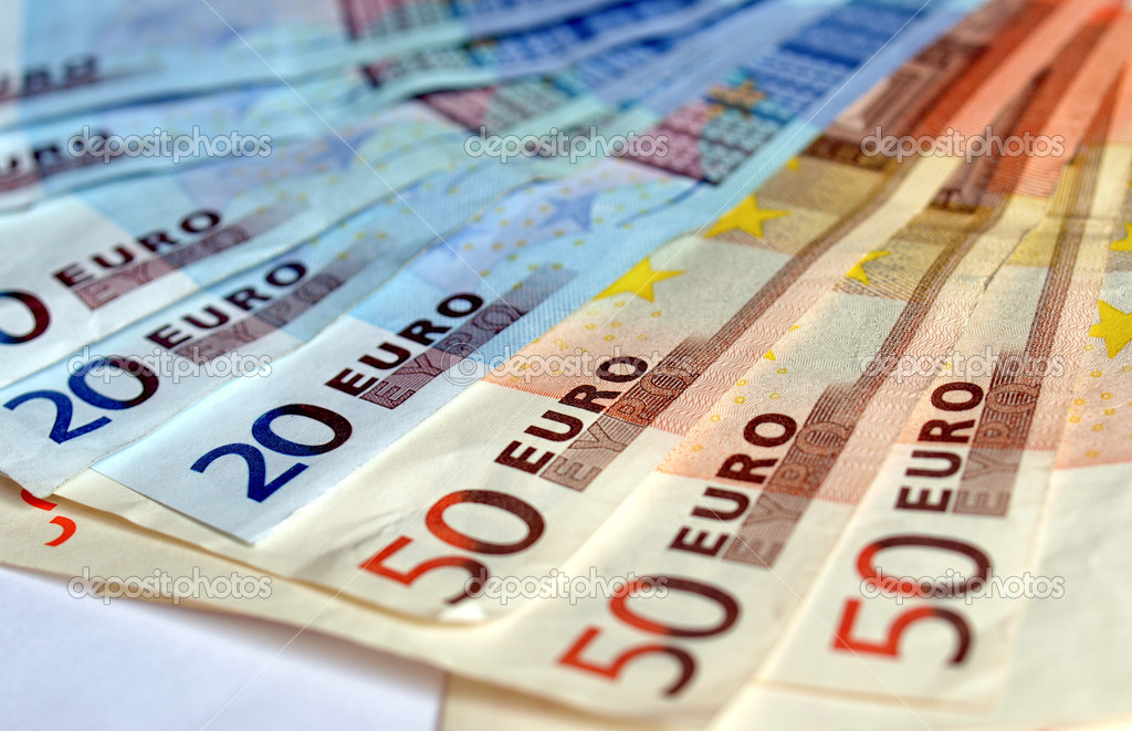 Euro banknotes money european currency — Stock Photo #7280101