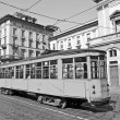Vintage tram, Milan — Stock Photo