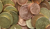 Euro coins background — Stock Photo