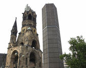 Bombed church, Berlin — Stock Photo