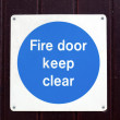 Foto Stock: Fire door