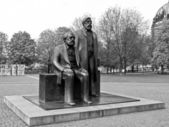 Marx-Engels Forum statue — Foto Stock