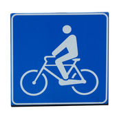 Bike lane sign — Stok fotoğraf