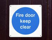 двери противопожарные — Стоковое фото