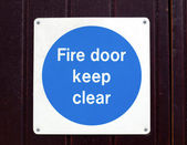 Fire door — Stockfoto