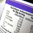 Nutrition label — Stock Photo