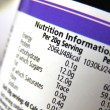 Nutrition label — Stock Photo #7373857