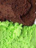 Mint chocolate ice cream — Stock Photo
