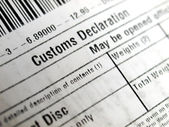 Customs declaration — Stock Photo