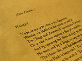 William Shakespeare Hamlet — Foto Stock