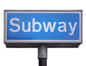Subway sign — Foto Stock