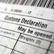 Stock Photo: Customs declaration