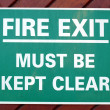 Fire exit sign — Stock Photo #7397754
