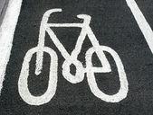 Bike lane sign — Stock Photo