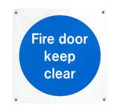 Požární dveře — Stock fotografie