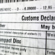 Customs declaration — Foto Stock #7408559