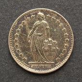 瑞士硬币 — 图库照片