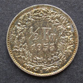 Swiss coin — Foto Stock