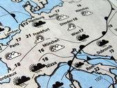 Väderprognos — Stockfoto