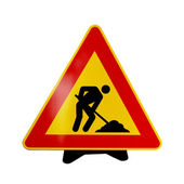 Road work sign — Stock Photo
