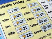 Weather forecast — Stock Photo