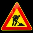 Road work sign — Foto de Stock