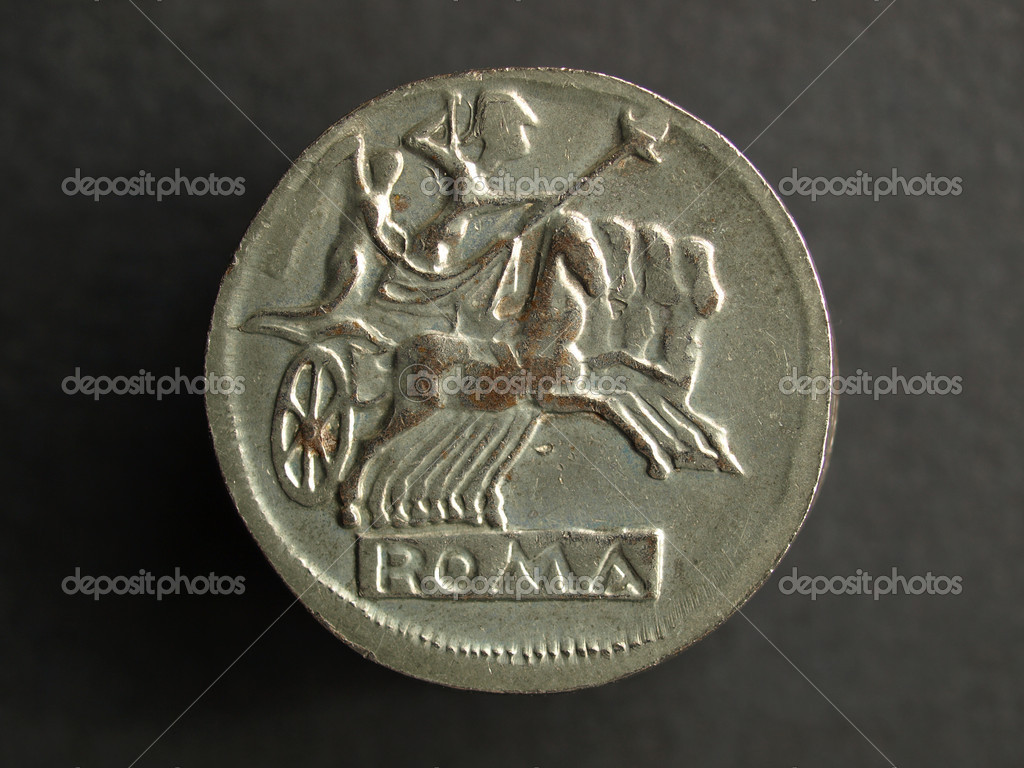 Pile of Ancient Roman coins on a black background — Stock Photo #7429613