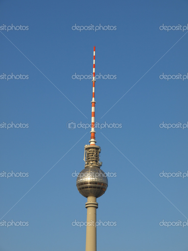 TV Fersehturm (Television tower) in Berlin, Germany  Stock Photo #7429615