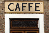 Caffe sign — Stock Photo